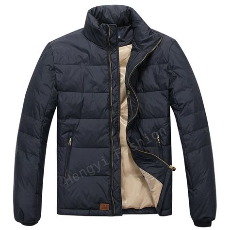 brand mens quality polo jackets  feather pading