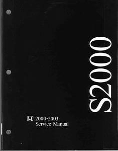 2000-2003 Honda S2000 Service Manual