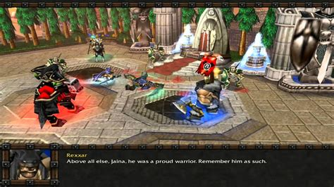 warcraft iii killing admiral proudmoore youtube