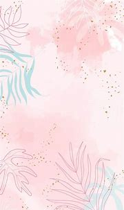 Pink leafy watercolor background vector | premium image by ...