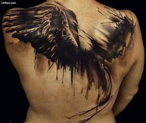 24+ Awesome Angel Tattoos On Back