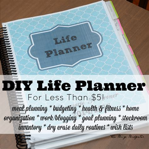 diy life planner      busy budgeter