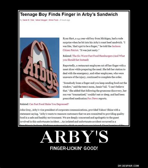 Arbys Meme - arby s demotivator by freyad dryden
