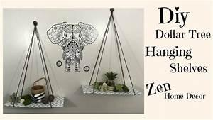 DOLLAR TREE DIY, HANGING SHELVES $3, ZEN HOME DECOR, My