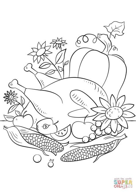 coloring pages thanksgiving thanksgiving food coloring page free printable coloring