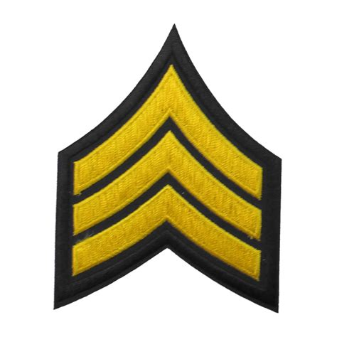 sergeant chevron patch goldblack west coast uniforms  accessories