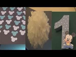 Baby 1 Geburtstag Deko : leons 1 geburtstag baby micky maus party diy deko zahl h ngegirlande pompons youtube ~ Frokenaadalensverden.com Haus und Dekorationen