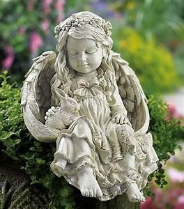 angel bunny rabbit garden statue With französischer balkon mit garten statue