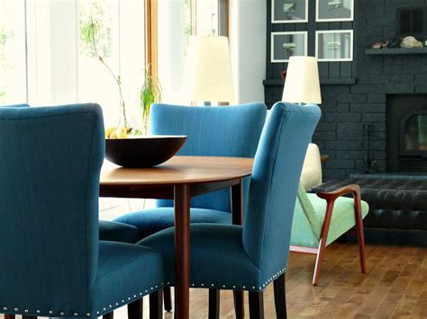 blue tweed dining room chairs update  dining room