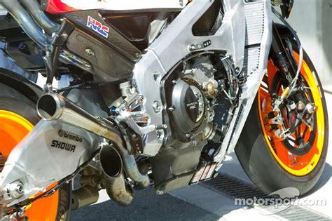 detail of honda motogp machine at us gp