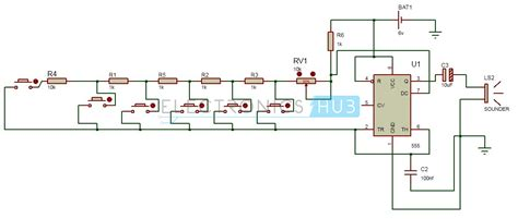Electronic Toy Piano Using Timer Organ Circuit