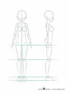 How to Draw Anime Girl Body Step by Step Tutorial | Anime ...