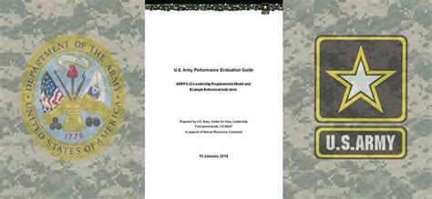 performance evaluation guide  army combined arms center