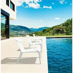 Fauteuil Relax Jardin : fauteuil de jardin relax design suny blanc ~ Nature-et-papiers.com Idées de Décoration