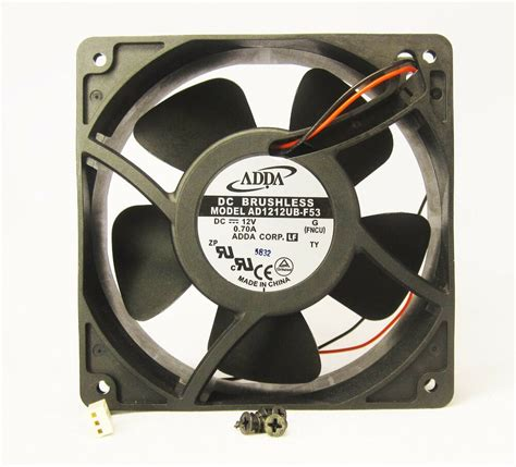120mm 38mm new metal fan 12v dc 120cfm pc cooling cpu 2 wire brgs 326 ebay