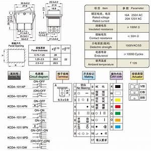 10pcs 250v Ac 6 Pin 3 Position Rocker Switch Hoist Boat On