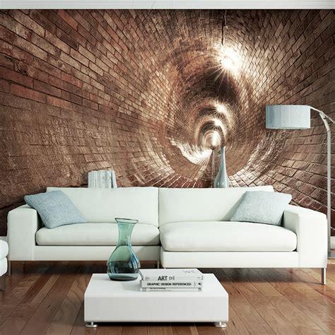 Fototapete 3d Wohnzimmer by Vlies Fototapete Tunnel Ziegel Grau 3d Effekt Tapete