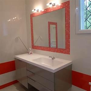 carrelage salle de bain avec mosaique miroir salle de bain With mosaique miroir salle de bain