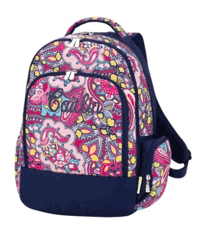 personalized floral backpackembroidered