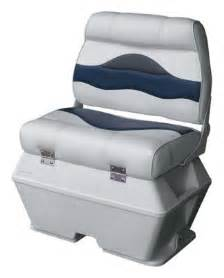 wise premium pontoon boat captains seat with cooler edgeshots pontoon