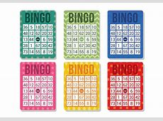 Bingo Card Vector Download Free Vector Art, Stock