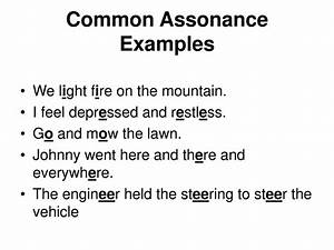 Examples Of Assonance