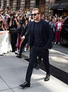 David Beckham arrive au restaurant Balthazar le 10 ...
