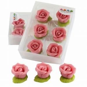 Deco Pate D Amande : 6 roses en p te d 39 amande rose funcakes ~ Melissatoandfro.com Idées de Décoration