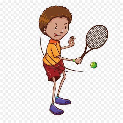 tennis player drawing illustration vector cartoon child tennis illustration png