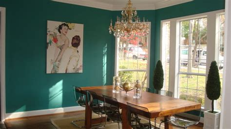 teal dining room eclectic dining room dallas
