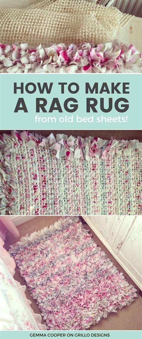 rag rug diy how to make a diy rag rug using bedding