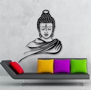 free shipping home decor wall sticker religion buddhism With buddha wall decal