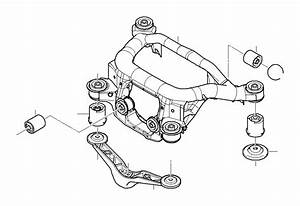 Bmw 320i Rubber Mounting Rear  Axle  Suspension  Carrier