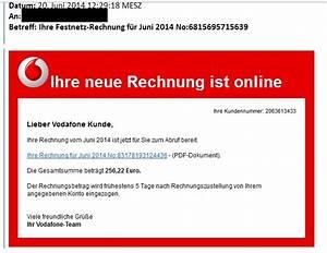 Gefälschte Vodafone Rechnung Per Post : gro angriff mit falschen rechnungen unbekannte attackieren wieder deutsche nutzer ~ Themetempest.com Abrechnung