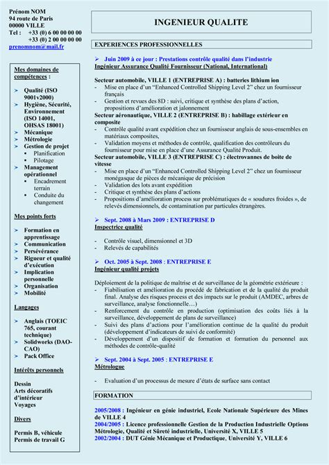 Cv Télécharger Word by Resume Format Mod 232 Le Cv Ing 233 Nieur