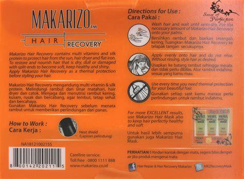 Harga Makarizo Advisor Recovery makarizo advisor hair recovery heat protector sense