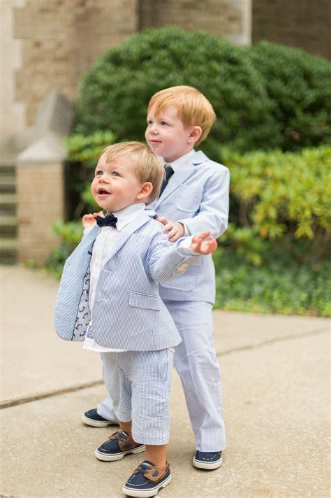 ring bearer seersucker suit  bow tie