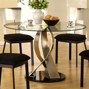 modern glass round dining table modern glass dining room With round modern dining room sets