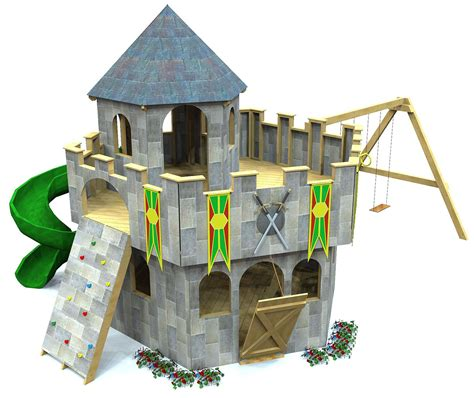 For countless hours of fun, you can use this another incredibly unique and cool option is this gingerbread playhouse. Whimsical Castle Plan in 2020 | Play houses, Build a playhouse, Castle playhouse