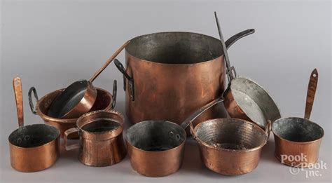 collection  copper cookware copper cookware auction items