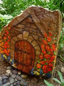 Painted Rock Fairy Garden House