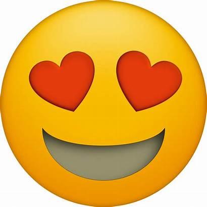 Emoji Faces Printable Emojis Heart Eyes Transparent