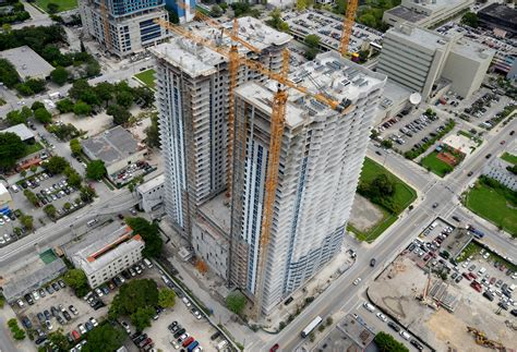 Residential Towers Top Off Construction At 34 Stories In