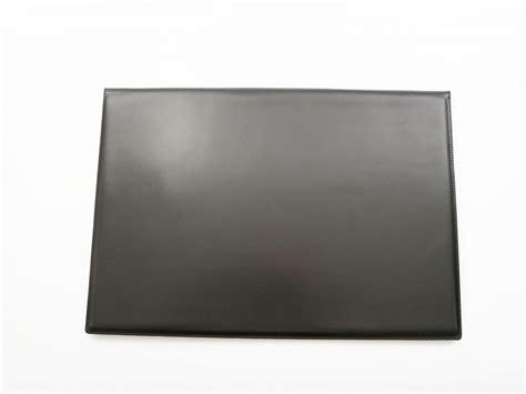 sous de bureau en cuir noir 224 rabat sous cuir