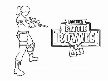 Fortnite Coloring Pages Royale Shooting Battle Printable