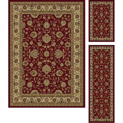 100 red 5 piece bathroom rug set merry red bathroom