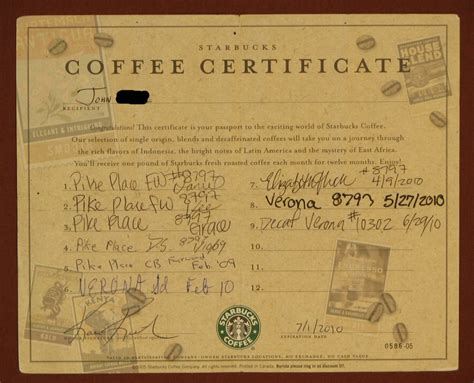 What's The Story Behind This Starbucks Coffee Certificate Different Types Of Coffee Sizes Ground Emesis Uworld Addiction Buzzfeed In The Philippines Preparation History Side Effects