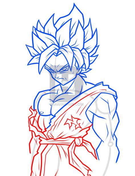 drawing super saiyan blue goku step  step step  step