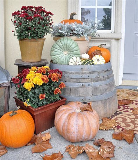 harvest porch decorating ideas fall cleaning entryway porch