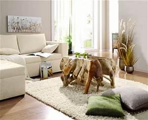 deco salon couleur naturelle canape ecru table basse helline With tapis enfant avec bout canapé bois